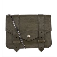 Pre-owned Proenza Schouler Green Leather PS1 Mini Shoulder Bag (4 440 ZAR) ❤ liked on Polyvore