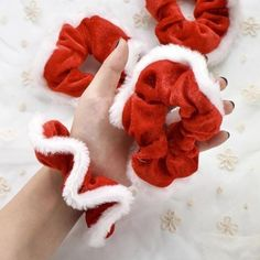 Christmas Scrunchies For Women Girls Elastic Hair Rubber Fashion Christmas Ornaments Hair Ring Velvet Ponytail Holder-in Women's Hair Accessories from Apparel Accessories on AliExpress Diy Hair Scrunchies, How To Make Scrunchies, Accesorios Casual, Hair Rings, Diy Hairstyles, Pretty Hairstyles, Hair Accessories For Women, Women's Accessories, Ponytail Holders