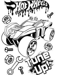 Free Printable Hot Wheels Coloring Pages For Kids | hot ...