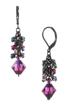Dabby Reid Ronnie Mae Long Earrings Jewel Tone Multi Dabbyreid