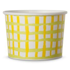 Oh Joy! Paper Dessert Cups Green and Yellow Gingham 10 ct
