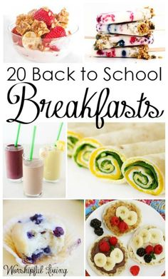 The kids are heading back to school soon, so it's time to start thinking of some yummy breakfast options for them. Just a bowl of cereal and milk seems to be on the way out as far as being the go-to choice for mornings. There are plenty more choices for delicious options. I've gathered together 20 recipes that will make back to school breakfasts, anything but boring.