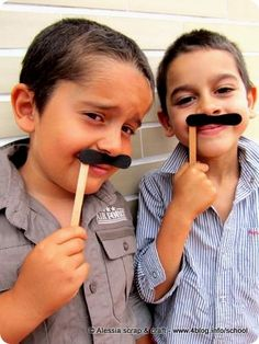 Stick icecream moustache  these shall be at my next birthday party :)