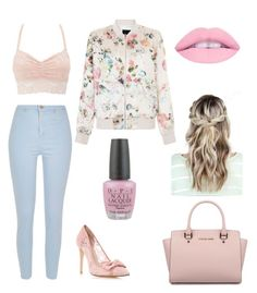 """""""PINK PINK!!"""" by dorthe-herland on Polyvore featuring New Look, Charlotte Russe, Michael Kors, River Island and OPI"""