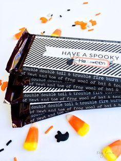 FREE Halloween Candy Bar Wrapper