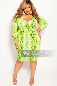 2cf2e8582476 New Plus Size Long Sleeve Faux Wrap BodyCon Dress with Attached Tie in –  Chic And. Chic And Curvy