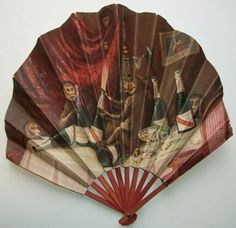 French Eventail ART Deco Monkeys FAN G H Mumm CO Champagne Cremnitz PARIS20S | eBay