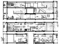 Le Corbusier - Unité d'habitation - Plan