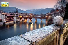 Vacanze nel Veneto. Bassano del Grappa, il ponte degli Alpini.