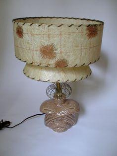 Vintage Mid Century Atomic Lamp w/ 2 Tier by AuntysTeeks on Etsy