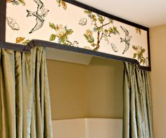 a cornice or valance transforms a shower curtain More
