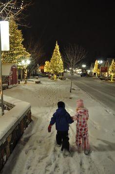 Christmas time in Big Bear Lake, California