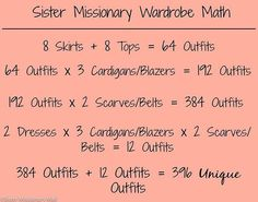 Need help planning your mission wardrobe? We are here to help! Click on the link in our bio to see how we took 24 pieces from our store and made 414 different outfits! #sistermissionarymall #sismissmall #sistermissionary #sistermissionaryclothing