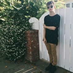 Troye went on a walk and took pictures wearing Tyde's shirt and Tyde got angry hehe