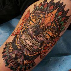 Today's massive thigh skull! Thanks man! #tattoo #tattoos #tattooworkers #tattoosnob #tattoolifemagazine #triplesixstudios #neojapanese #uktta #art #artist #draw #drawing #japanesetattoos #kapala #tibetanskull #tibetan #orientaltattoo #oriental #sunderland #northeast #triplesix #teamego #elliottwells #thebesttattooartists #irezumicollective #irezumi #japanesetattoocollective #japanesetattoosub #egor12