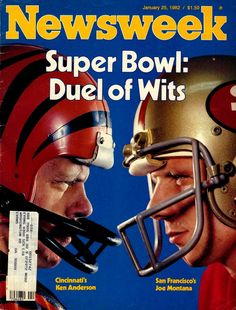Best  Newsweek cover from Super Bowl XVI.