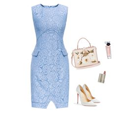 """Elegant Cocktail Dress"" by nanayau ❤ liked on Polyvore featuring Dolce&Gabbana, Christian Louboutin, Ilia and Lancôme"