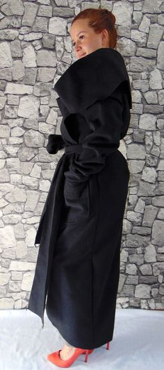 cdd2519a66c Long cashmere Wool Coat   Cashmere Poncho Coat by TheTSdesign