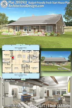 Budget-Friendly Fresh Start House Plan - 28939JJ | Architectural Designs - House Plans