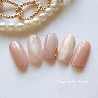 オールシーズン/オフィス/ブライダル/ハンド/グラデーション - Nail room Anvieのネイルデザイン[No.1483615]|ネイルブック Acrylic Nails Nude, Nude Nails, My Nails, Bridal Nails, Wedding Nails, Japan Nail, Daily Nail, Minimalist Nails, Gel Nail Designs