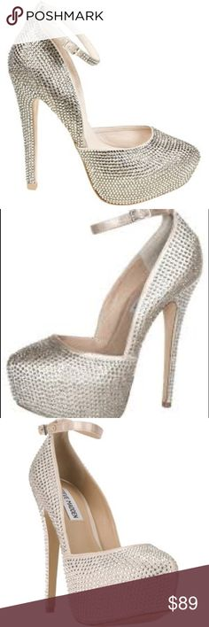 Steve Madden Deeny Rhinestones shoes Brand Steve Madde These eye-catching Deeny-R platform pumps from Steve Madden are a must-have. Features all-over rhinestone embellishments, a hidden platform. Comes with original box. Steve Madden Shoes Heels