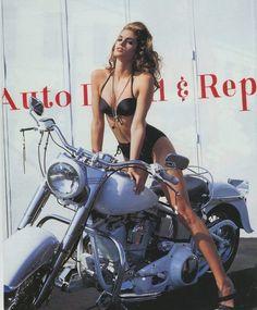 """""""Beyond The Beach"""", Vogue US, May 1991  Photographer: Ellen von Unwerth  Model: Cindy Crawford"""