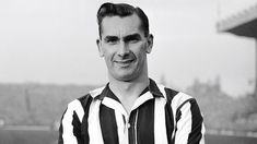 Jackie Milburn, one of the greatest players to have played for Newcastle and the one all number aspire to be like. Newcastle United Football, North Shields, St James' Park, North East England, The World's Greatest, Army, Diamond Formation, Black And White, History