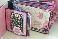 Mini Album with lots of pockets and flip pages - bjl; made using the design by Kathy Orta Confessions of a Shop-a-holic mini