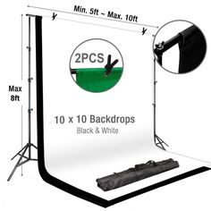 Adjustable Photo Video Studio Muslin Background Backdrop Support System Stand - With Free Backdrops Adjustable Crossbar Kit Wedding Photography Muslin Backdrop Stand FREE Backdrops. Photo Booth Stand, Photo Backdrop Stand, Backdrop Frame, Photography Backdrop Stand, Mobile Photography, Wedding Photography, Digital Photography, Backdrop Background, Metal Background