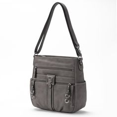 Rosetti Double Duty Bucket Bag (Grey) ($41) ❤ liked on Polyvore
