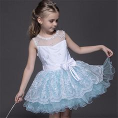 (28.89$)  Watch here - http://ail48.worlditems.win/all/product.php?id=32785166877 - 6 Layer Girls Sleeveless Dress Princess Snow White Costume Costume Children Cinderella Blue Vest Dress Fashion Top Quality Cloth