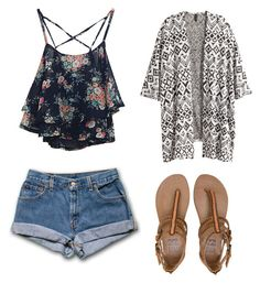 """Untitled #26"" by zoeysanders123 ❤ liked on Polyvore featuring H&M and Billabong"