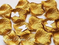 1000 Pieces Gold Silk Rose Petals Wedding by yourperfectgifts