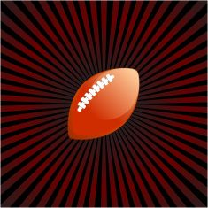 football on royalty free vector Background with glow effect vector art illustration