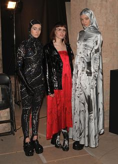 Pin for Later: The Fashion Force Is Strong with Star Wars Star Wars: Fashion Finds the Force Designer Claire Barrow posed with models in her designs.