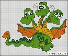 Дракончики схема скачать символ 2012 животные дракон вышивка