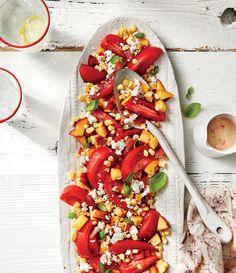 Tomato, Peach, and Corn Salad Recipe