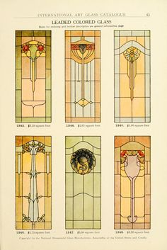 International Art Glass Catalogue, National Ornamental Glass Manufacturers Association of the United States and Canada 1914. The ostrich one is somewhat unusual...