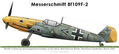 Messerschmitt Bf 109F2 Stab III.JG53 Gruppenkommandeur Wolf Dietrich Wilcke Mannheim Sandhofen Mar 1941 0A