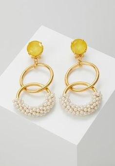 HALLHUBER Boucles d'oreilles - gold-coloured - ZALANDO.CH Gold Rings, Drop Earrings, Color, Jewelry, Style, Boucle D'oreille, Outfits, Swag, Jewlery