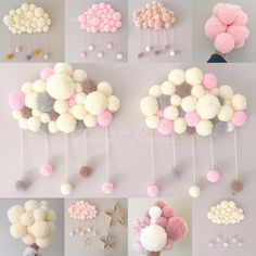23 Clever DIY Christmas Decoration Ideas By Crafty Panda Baby Crafts, Diy And Crafts, Crafts For Kids, Arts And Crafts, Pom Pom Wreath, Pom Pom Rug, Craft Projects, Projects To Try, Tulle Projects