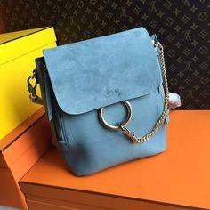Chloe Faye Medium Backpack Cloudy Blue