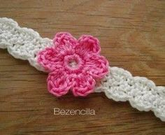 Baby crochet headband with flower see these i would make and sell updated patterns crocheted baby headband and hat dt1010fo