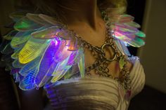 Voltkyrie Feather Shoulder Wings by ElectricCandyCouture on Etsy
