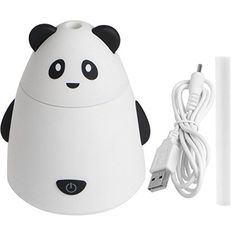 Zjzhao 3 Colors USB Portable Mini Cartoon Bear Humidifier Aroma Air Diffuser Mist Maker for Home Office Baby (White) - $7.76