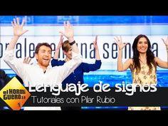 Así baila Pilar Rubio 'La gozadera' en lenguaje de signos con Fernando Esteso - El Hormiguero 3.0 - YouTube