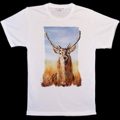 Big-Animal-Face The Stag Deer T-Shirts