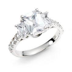 Crystal's Fancy Three Stone Ring