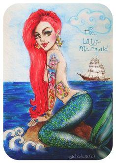 The Little Mermaid by psichodelicfruit.deviantart