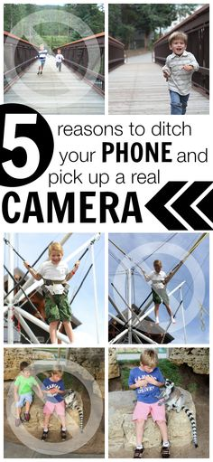 Learn how to use your real camera to get awesome photos of your kids!  Ditch the phone and use a REAL camera!